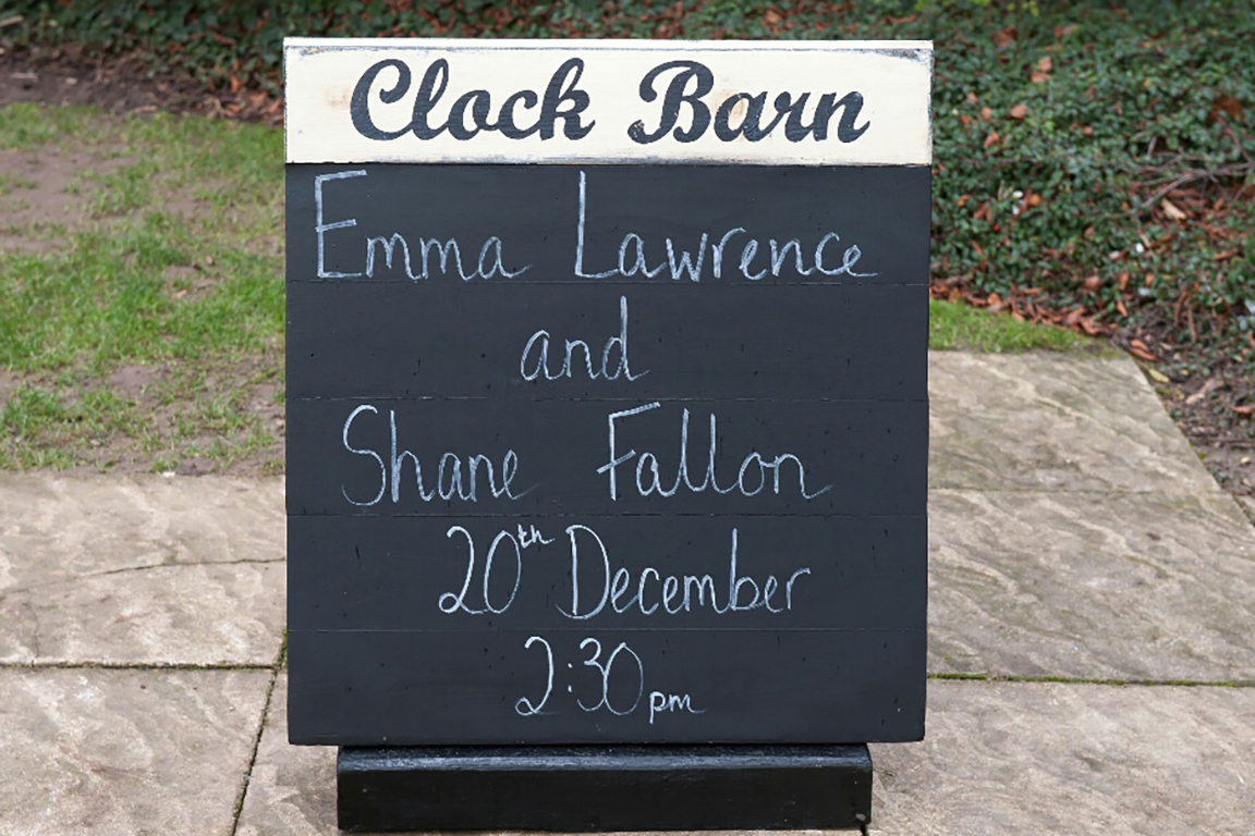 Emma and Shanes Clock Barn Wedding