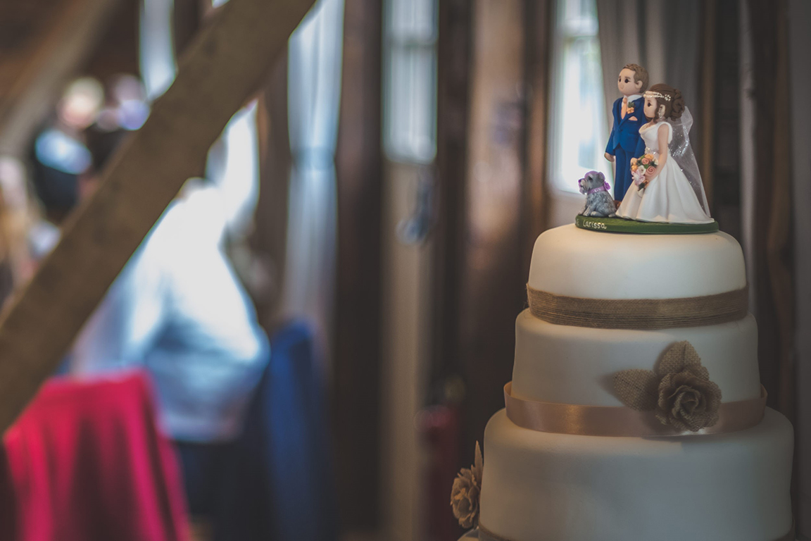 Unique wedding cake topper