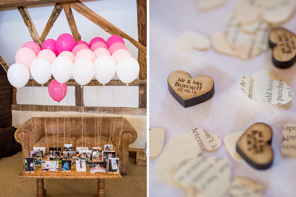 Pastel coloured wedding balloons