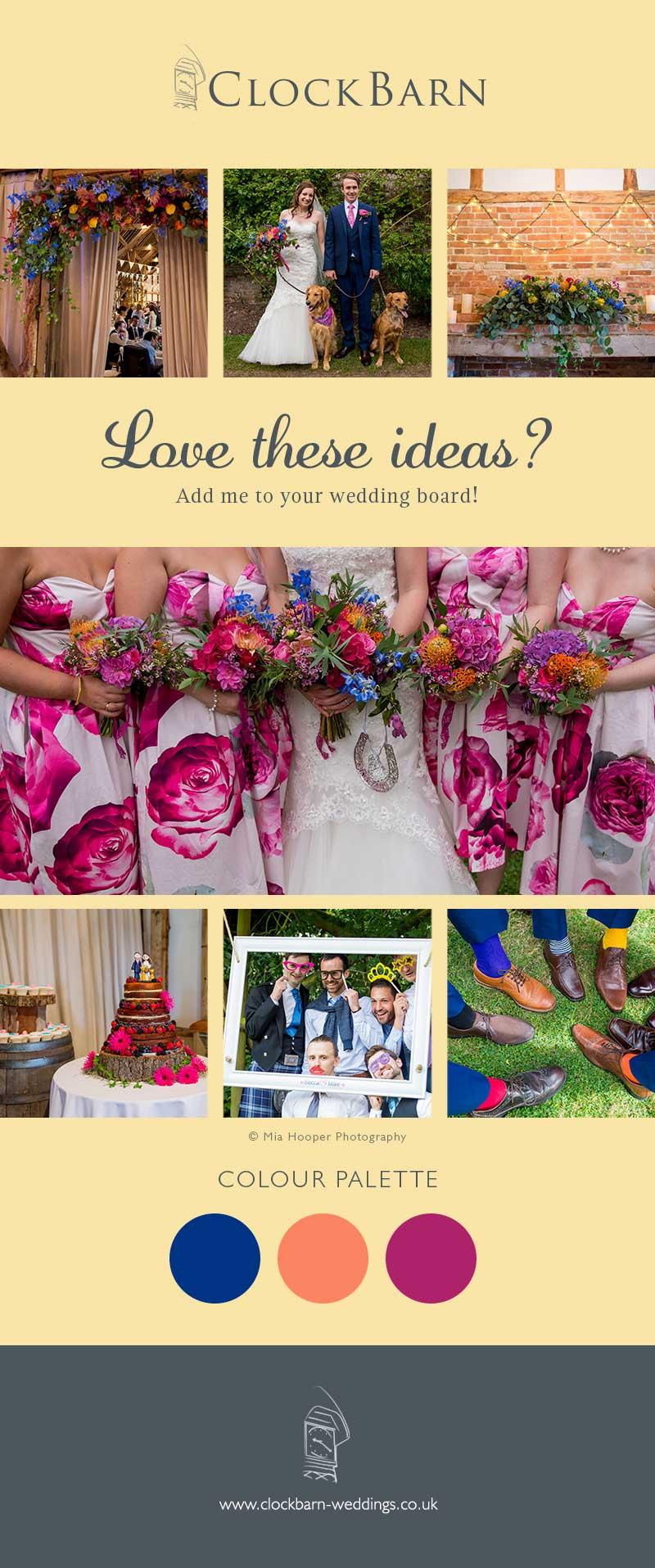 Rebecca and Micheal Clock Barn wedding