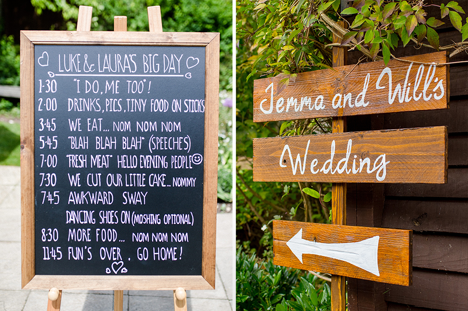 Using Wooden Wedding Signs To Direct Guests Around The Wedding