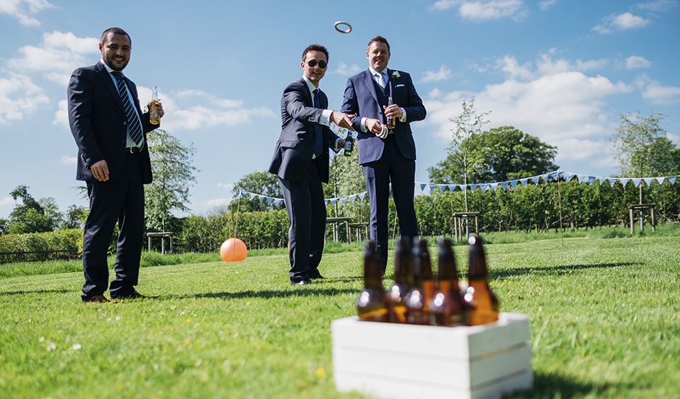 Keep guests entertained in the sunshine with a host of outdoor games – wedding ideas