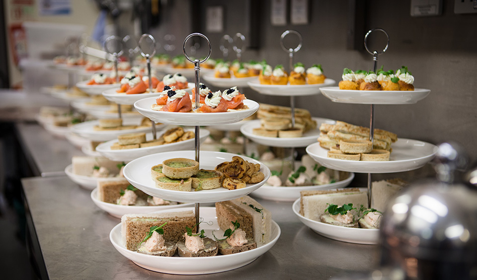 Guests enjoyed a tasty afternoon tea created by the wedding catering team