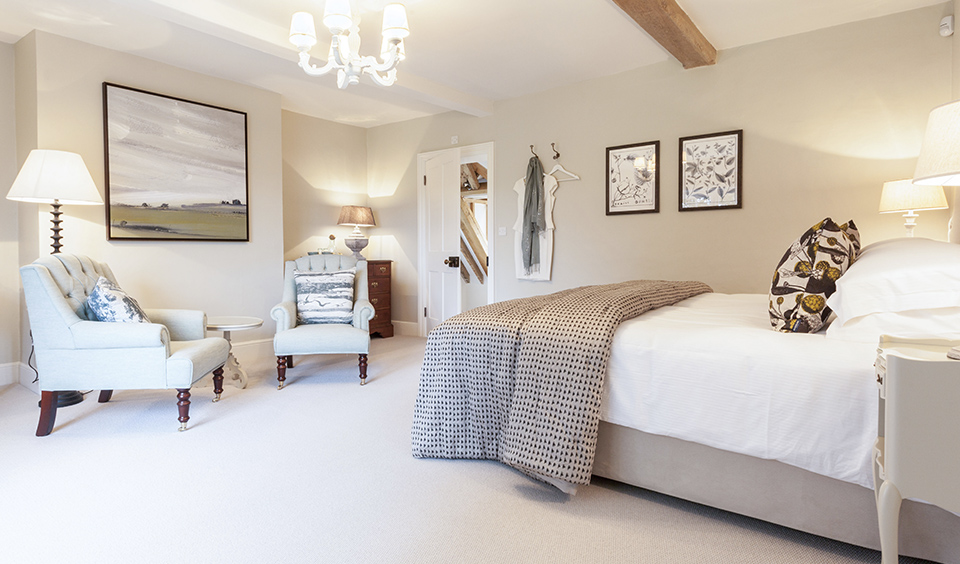 Each bedroom inside the Farmhouse wedding accommodation has been individually designed and styled