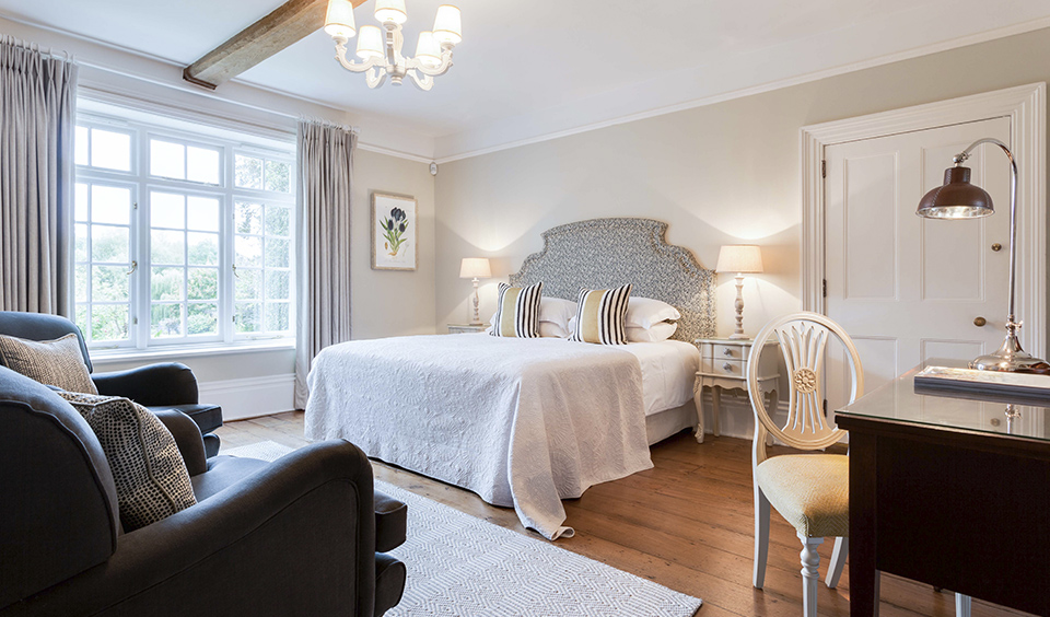 Guests will feel spoilt in the luxurious contemporary guest bedrooms of the Farmhouse accommodation