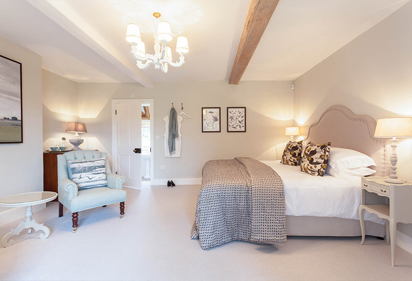 The bedrooms in the Tufton Warren Farmhouse at Clock Barn have been decorated to have their own individual character
