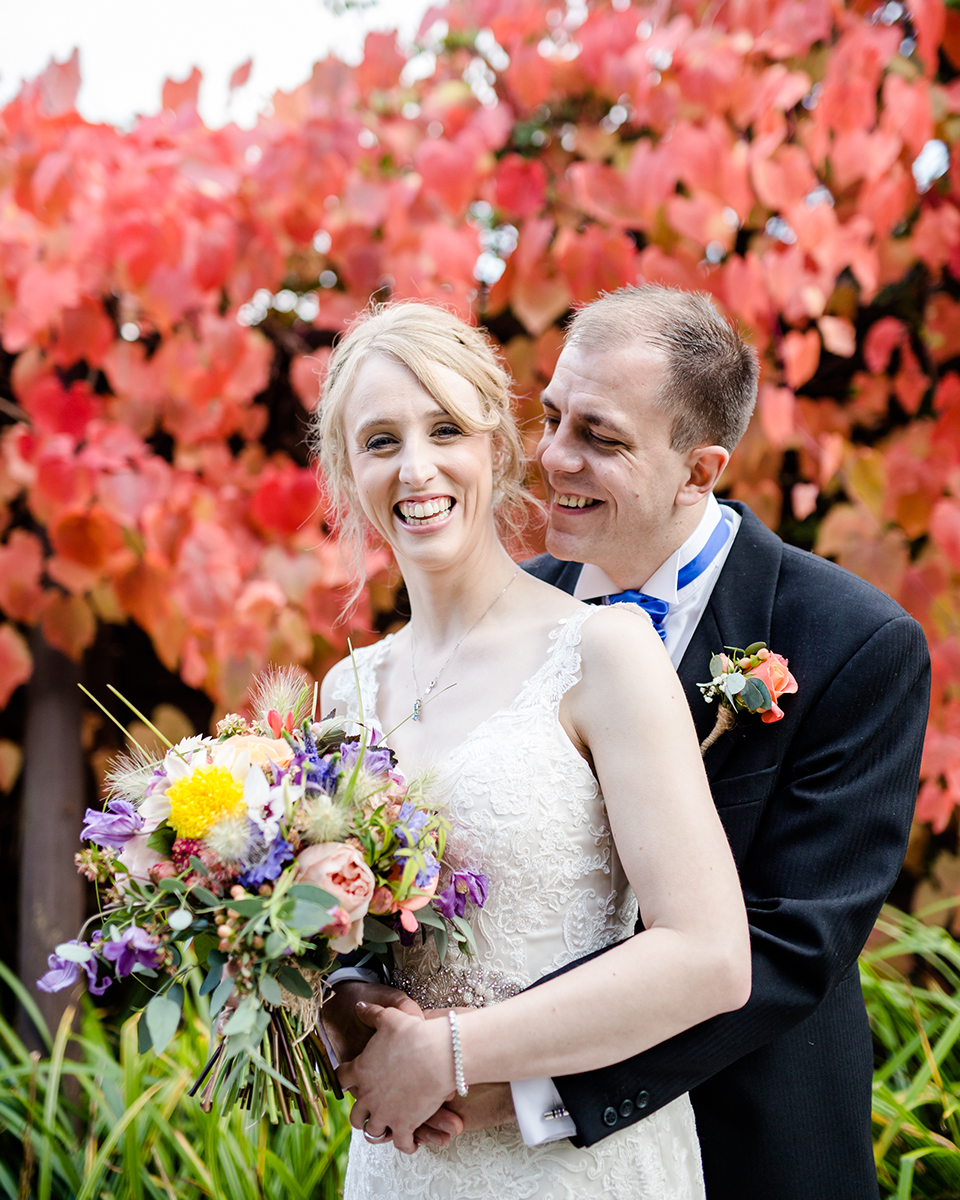 Blooms with lots of colour are perfect for your summer wedding at Clock Barn in Hampshire