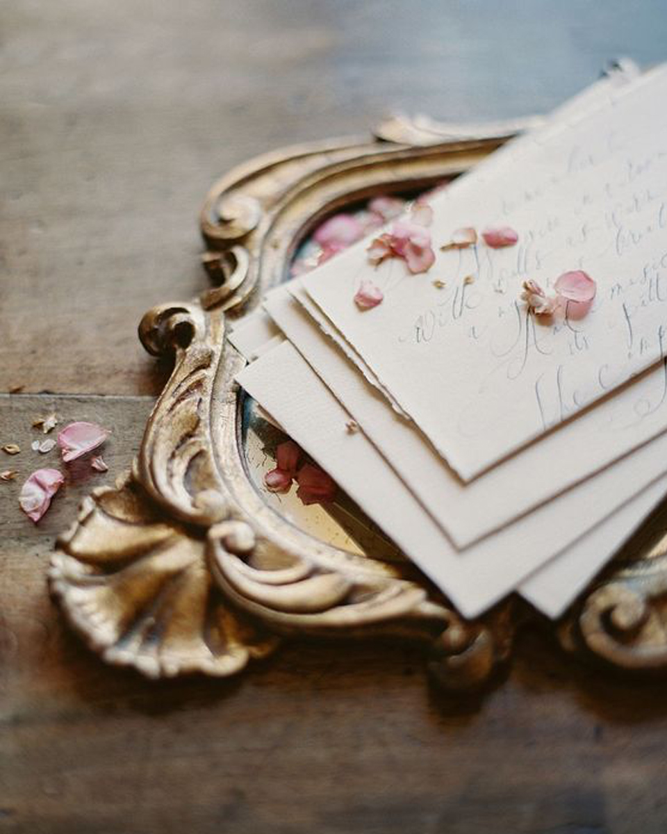 Handwritten sweet messages or love letters for your partner to read on the morning of the wedding couldn't be more romantic for your Clock Barn wedding