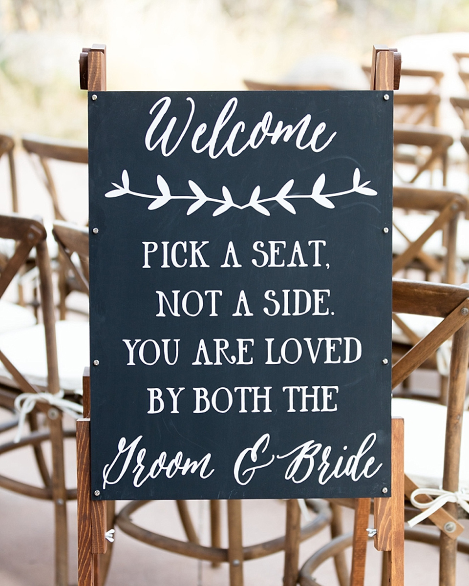 Display messages for your guests on chalk board wedding signs at your romantic barn wedding at Clock Barn in Hampshire