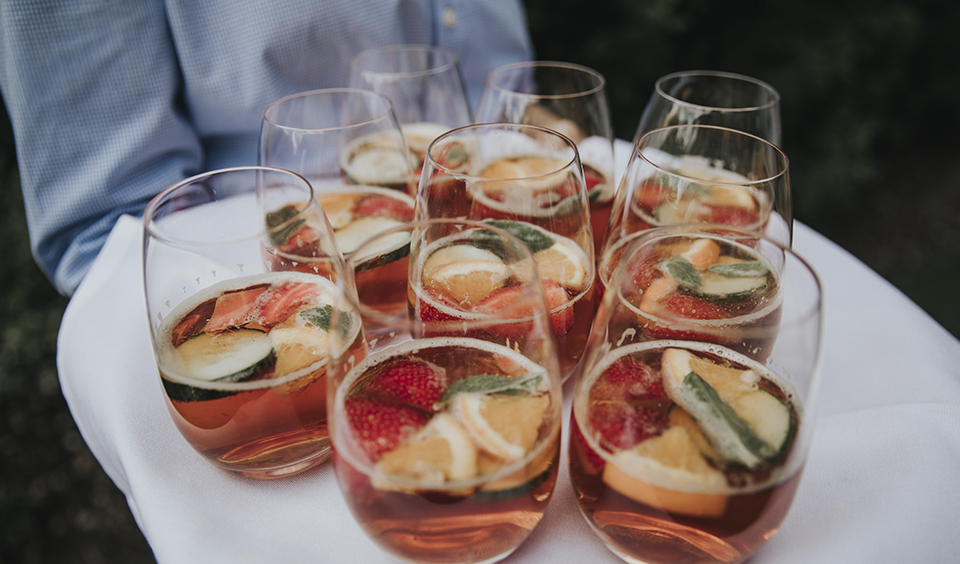 Pimms is the perfect choice for your drinks reception at your spring wedding in Hampshire