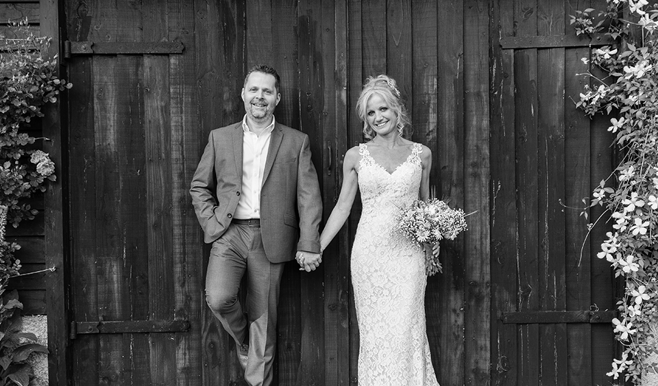 Mel and Rob's Relaxed Late Spring Wedding at Clock Barn