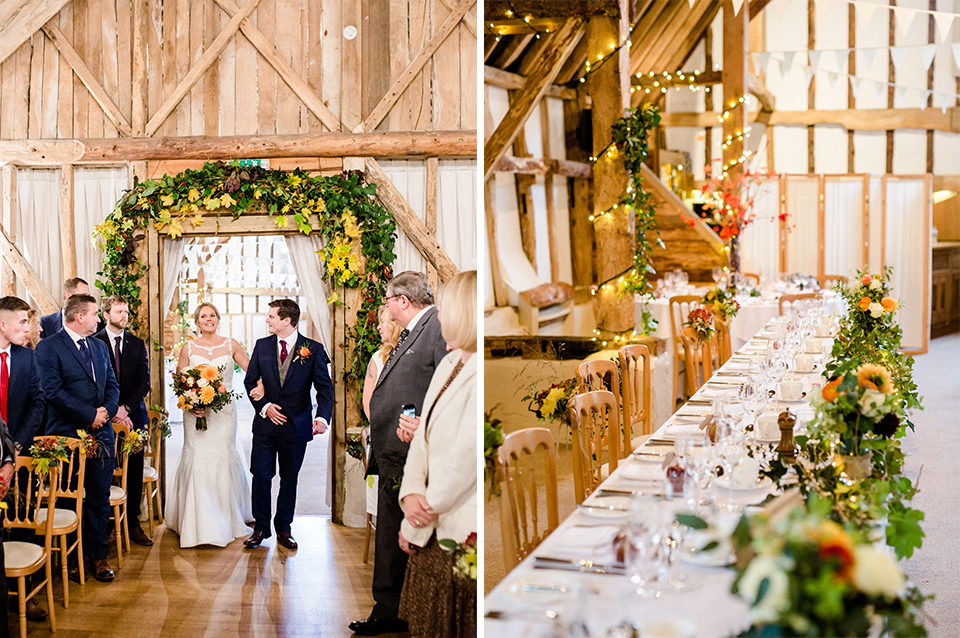 An Autumn wedding at Clock Barn