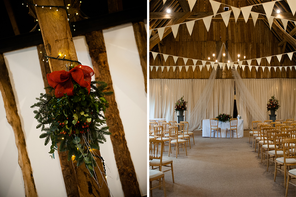 Alice & Grant's Cosy Christmas Wedding | Clock Barn Weddings