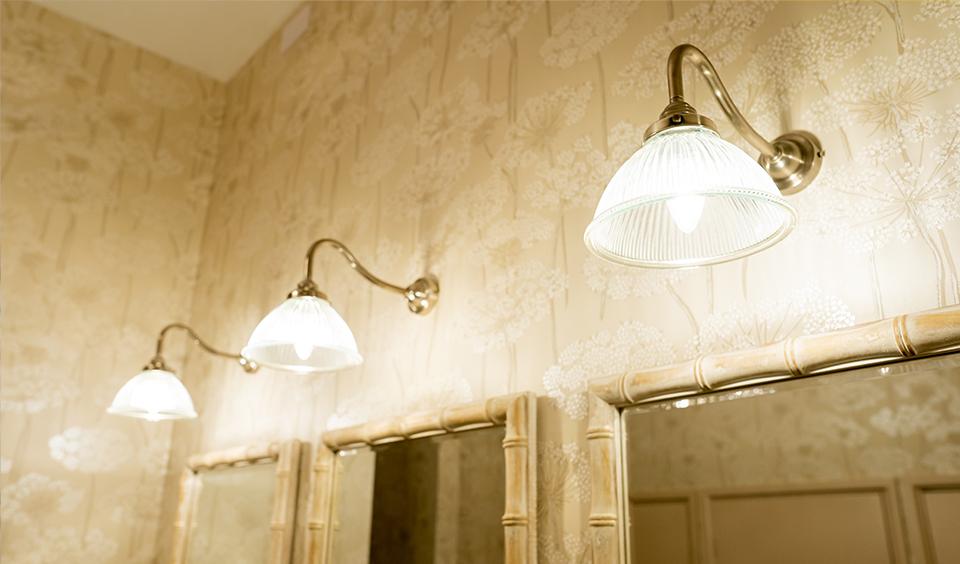 Toilet lighting at Clock Barn